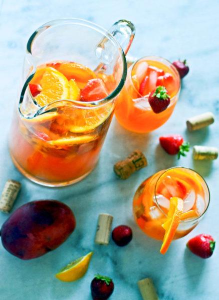 strawberry mango rosé sangria