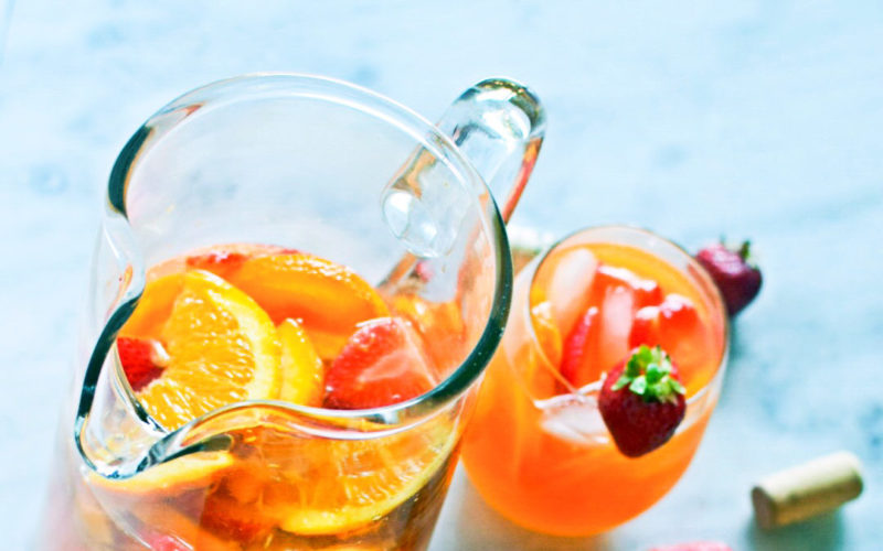 Summer in a Glass: Strawberry Mango Rosé Sangria