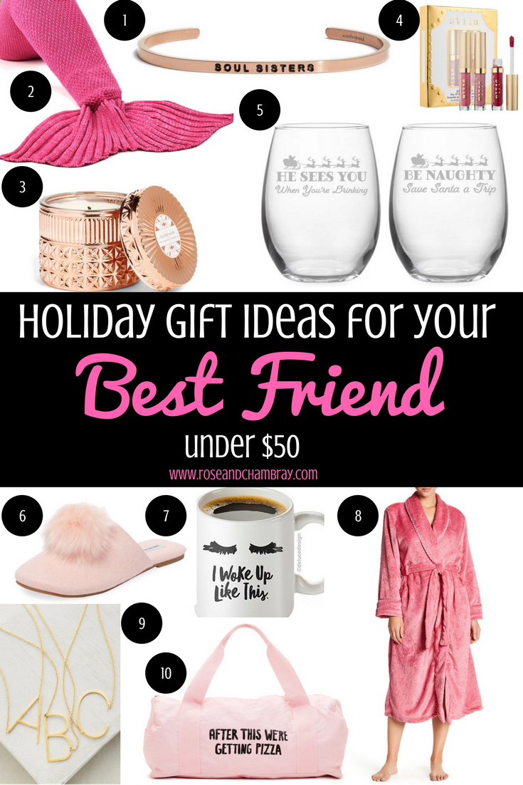 Holiday gift ideas for your best friend under 50 for Gift to give your best friend