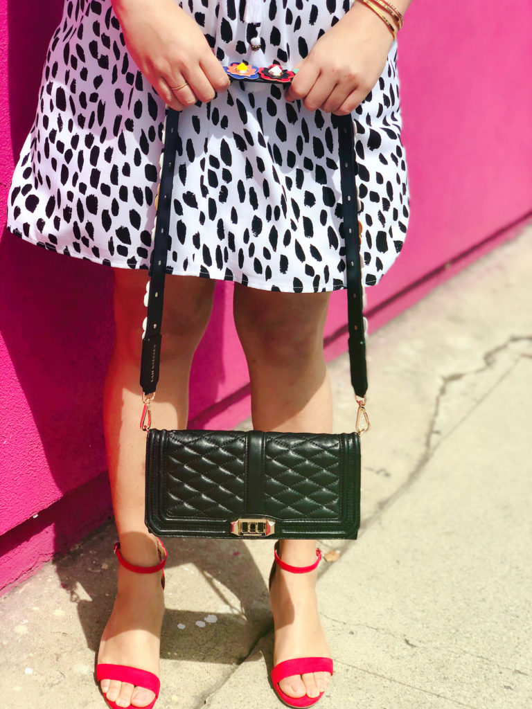 flower purse strap