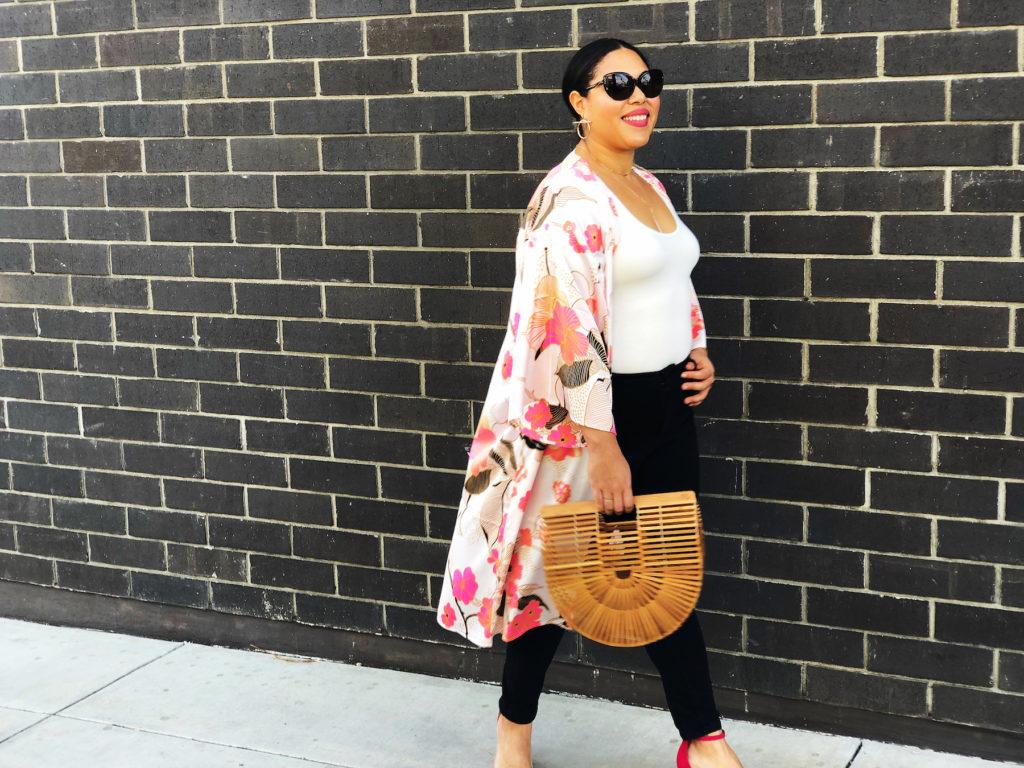 Silky Floral Kimono For Spring (Under $50!)