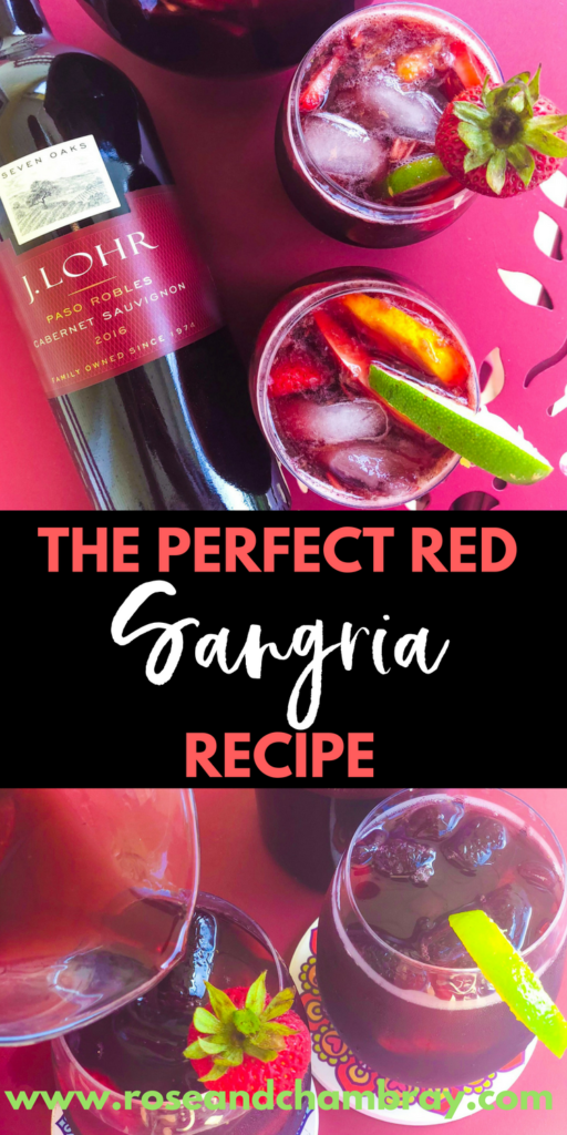 The perfect red sangria recipe